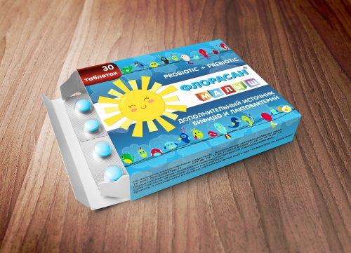 Разработали упаковку пробиотиков для компании Biox Pharma