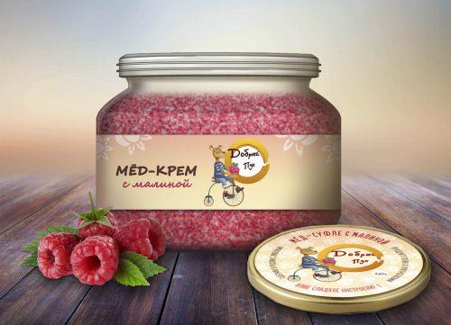 Разработали логотип и линейку этикеток для бренда производителя меда - Добрый Пух