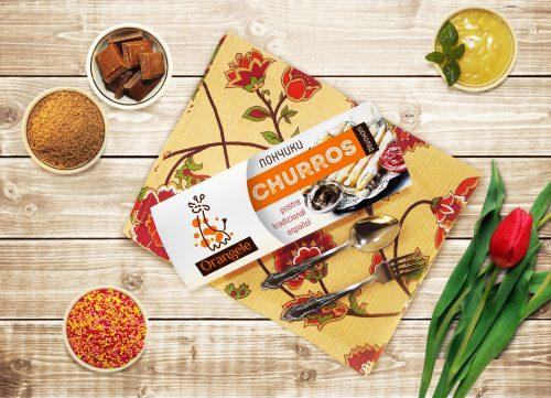 Разработали упаковку для пончиков от компании Orangele