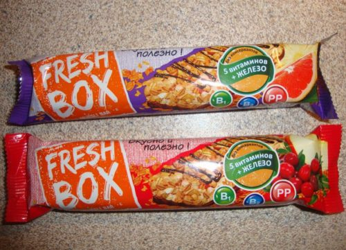 Разработали линейку упаковок для батончиков Fresh Box