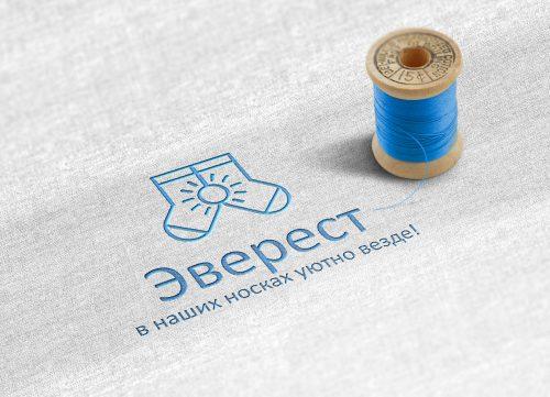 Разработали слоган и логотип для чулочно-носочной фабрики Эверест