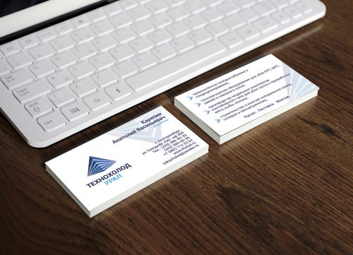 Разработали визитки для компании Технохолод Урал