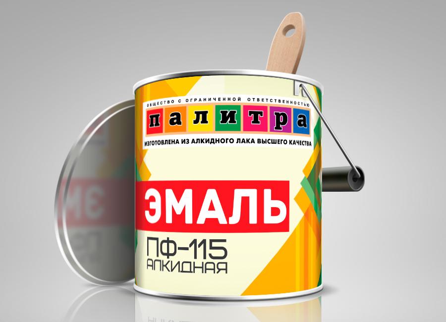 Палитра - этикетка для краски.