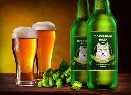 Дизайн этикетки для пива