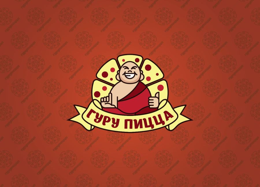 Гуру Пицца - логотип для пиццерии