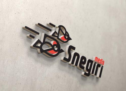 Снегири - логотип для медиа студии