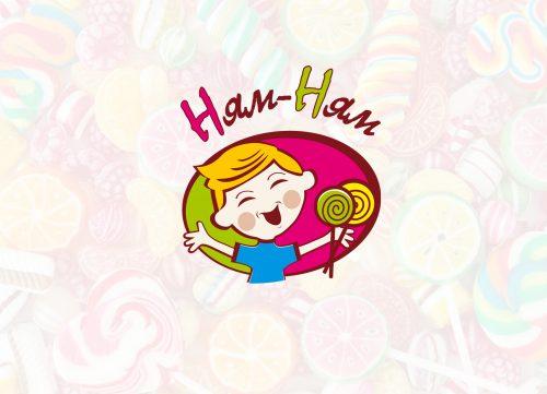 Разработали логотип для кондитерского магазина Ням-Ням