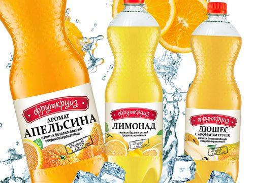 Разработали линейку этикеток для напитков компании Фруткруиз