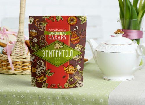 Упаковка для заменителя сахара